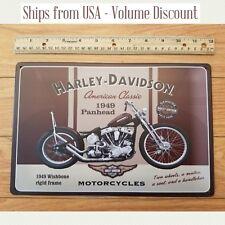 1949 Harley Panhead Sign Panhead Harley Motorcycle Sign Harley Davidson Tin Art