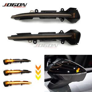 LED Side Mirror Dynamic Turn Signal Light For SEAT Leon MK3 Ibiza Arona 2013-18
