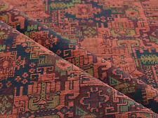Upholstery fabric Kilim ethnic southwestern boho home decor red blue textile