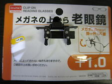 Daiso Japan Optical Clip-on Flip-up Magnifying Reading Glasses 12 G Only 1.00 Strength