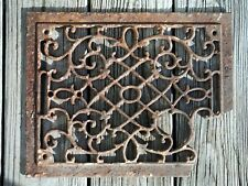 Antique Rusty Iron Ornate Floor Grate Vent, with break, Make Art!
