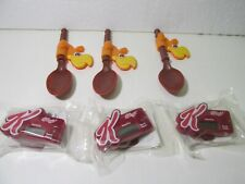 Kellogg's & General Mills Set Of 6 Step Counter & Spoon Cereal Toy t5325