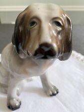 Vintage Ceramic Porcelain Basset Hound Dog