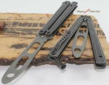 "8.75"" Black Jack Hammer Balisong Training Trainer Practice Butterfly Style Knife"