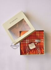 Authentic BNWT BURBERRY Vintage Check LambsWool Mens/Womens Scarf IN Orange