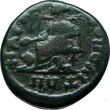 SEPTIMIUS SEVERUS 193AD Marcianopolis Authentic Ancient Roman Coin CYBELE i66146
