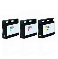 3 HP 933XL CMY Non-OEM Ink Cartridge Combo For HP Officejet 6100 6600 6700