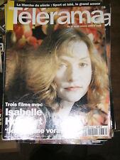 Télérama N° 2336 1994 Isabelle Huppert Cuba Hal Hartley David Grossman TV Cinéma