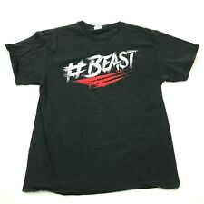 #BEAST Workout Shirt Men's Size Large L Black Red White Graphic Tee Fitness Gym