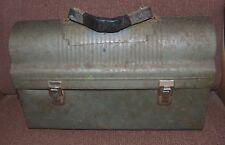 Vintage Metal Workmans Lunch Box Greenish Gray
