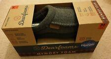 Men's Dearfoams Memory Foam Clog Slippers UK Size M 8-9 Grey