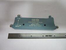 Narda Direccional Acoplador RF Microondas Frecuencia 2Ghz 4242-6 Papelera #