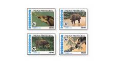 NIC8514 Animals 4 stamps MNH NICARAGUA 1985