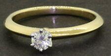 98fce0926 Tiffany & Co. 18K Gold/Platinum .19CT VS1/F diamond solitaire wedding