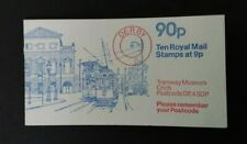 Gb 1979 Fg7B Tramway Museum Crich 90p Complete Booklet Selvedge on Right U/M