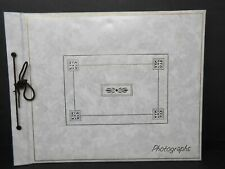 Ivory/Gold Padded Leatherette Photo Album 32 Black Pages