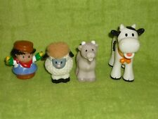 Fisher Price Little People Farm Lot: Farmer, Cow, Goat, Sheep