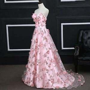 3D Chiffon Flower Printed Organza Lace Fabric DIY Wedding Bridal Dress Cloth 1YD