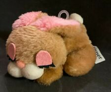 Vintage 1970s  Flopper Wallace Berrie Plush Brown BUNNY RABBIT Stuffed Animal