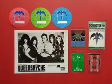 Queensryche,promo photo,7 different Backstage pass Originals,Various Tours