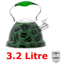 3.2L Green Whistling Kettle Jug Stainless Steel /3D design/ for Camping Fishing