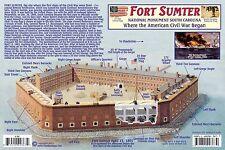 Civil War Guide Card Fort Sumter National Monument & HL Hunley Combat Submarine