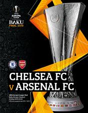 UEFA EUROPA LEAGUE  FINAL 2019 Arsenal v Chelsea  - Official Programme + poster