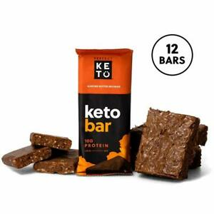Perfect Keto Protein Snacks - Box of 12 Bars - Low Carb Diet Friendly