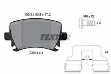 Textar Bremsbelagsatz HA epad Audi A3/A4/A6 VW Golf 5/6 Passat Touran - 2391481