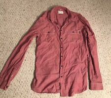 FRANK & OAK Mens Red Cotton Buttondown Casual Shirt Size Small