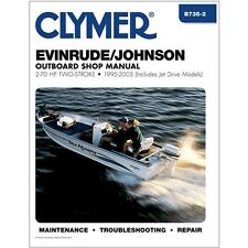CLYMER EVINRUDE JOHNSON OUTBOARD MOTOR 60 HP SERVICE REPAIR SHOP MANUAL 95-03