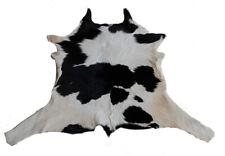 """Rare Cowhide Rugs Calf Hide Cow Skin Rug (30""""x34"""") White Black Beige CH8015"""