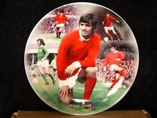 """8"""" GEORGE BEST WEDGWOOD COMPTON WOODHOUSE COMMEMORATIVE PLATE MANCHESTER UNITED"""