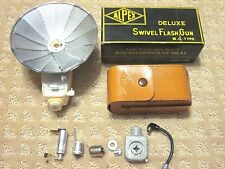 Alpex Deluxe Swivel Flash Gun BC Type + Box + Leather Case + Other Accesoriess