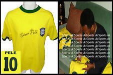 Pele signed BRAZIL World Cup 1970 Shirt Jersey FULL EDSON SIG, PHOTO PROOF