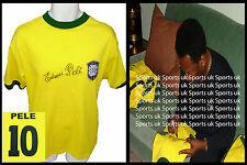 Pele Autografata Brasile World Cup 1970 Shirt Jersey Full Edson Sig, prova fotografica