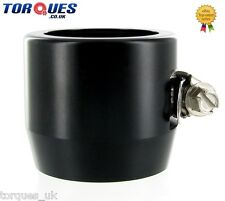AN -20 (AN20) 40mm Black Fuel Hose Clamp Finishers - For Silicone hoses etc