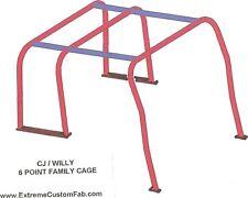 Family Roll Cage Kit Jeep 69-75 CJ5 Roll Bar Kit AMC 69 70 71 72 73 74 75