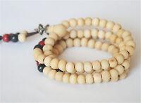 NEW 6mm Tibet Buddhism 108 Sandalwood Prayer Bead Mala  bracelet/necklace