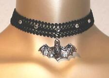 Gothic Halsband Kropfband Choker Steampunk Fledermaus schwarz NEU