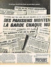 PUBLICITE  1973     PROTEG     protection maison