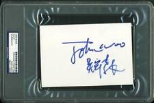 John Woo Authentic Signed 4X6 Index Card Autographed PSA/DNA Slabbed