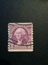 Usa stamp Postage 3 cent G.Washington non perforato in alto e basso annullo part