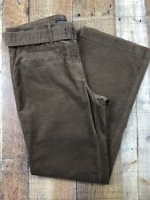 Tommy Hilfiger Brown Corduroy Pants w/ Matching Belt Flare Leg Sz12  32x32