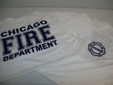 Chicago Fire Department Adult White Poly Performance Tee