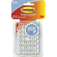 Command 17026CLR-VP Decorating Clips Value Pack, Clear, 40 Clips & 48 Strips