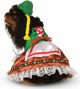 Oktoberfest Sweetie Dog Costume - XL - Dress and Hat with Braids - Rubie's - NWT