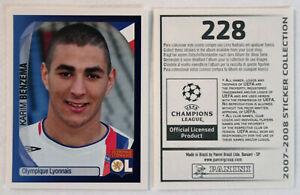 Panini Rookie Sticker Card Karim Benzema No. 228 Champions League 2007/2008