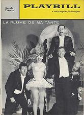 1958 Playbill LA PLUME DE MA TANTE Colette Brosset Pierre Olaf Jacques Legras