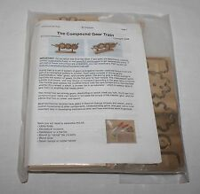 Wood Compound Gear Train Kit Model Mechanical Science Scouts RLT Industries New